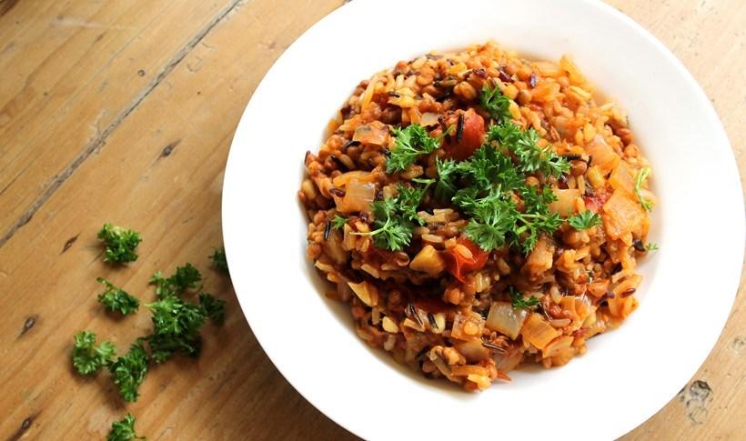 Ριζότο με φακές και λαχανικά