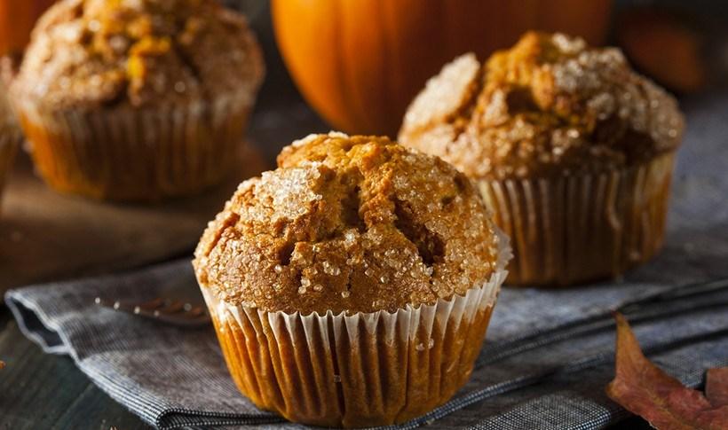 Muffins με γλυκιά κολοκύθα