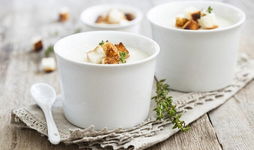 Κρεμώδης σούπα με κουνουπίδι