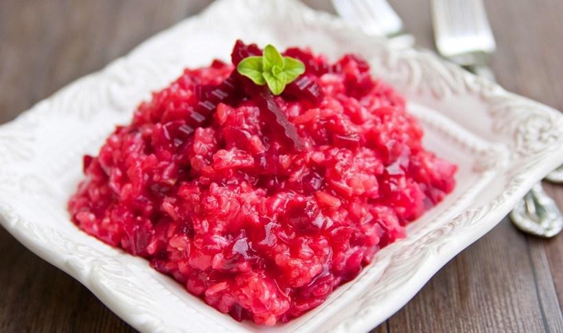 Κόκκινο ριζότο με παντζάρι