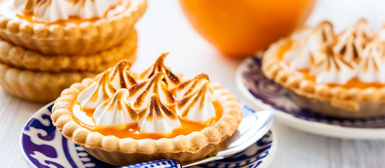 Ταρτάκια με κρέμα πορτοκαλιού και μαρέγκα
