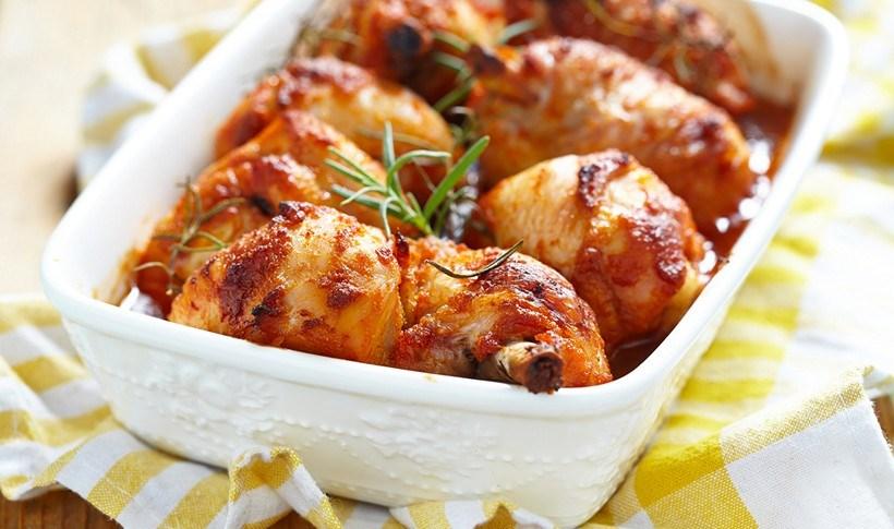 Πικάντικα μπουτάκια κοτόπουλου στο φούρνο